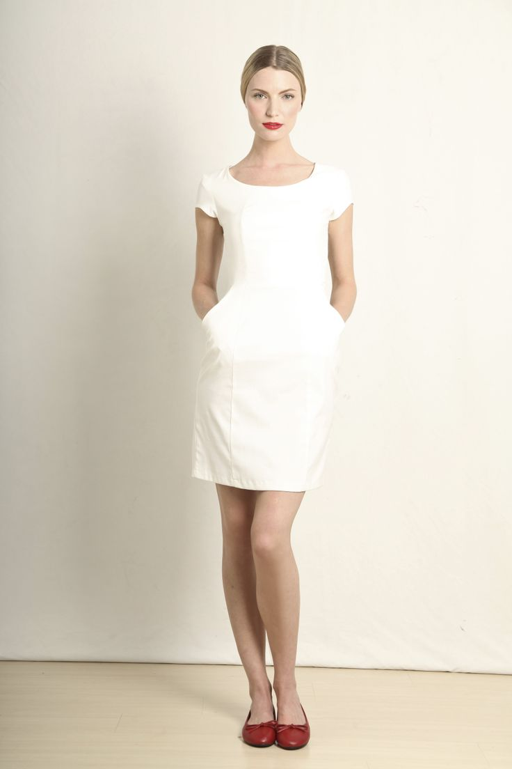 Ana dress in white  GB109-WHT  R760.00  www.georgieb.com