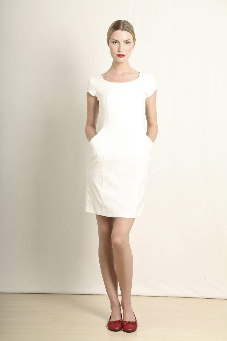 Ana dress in white  GB109-WHT  R760.00  www.georgieb.com