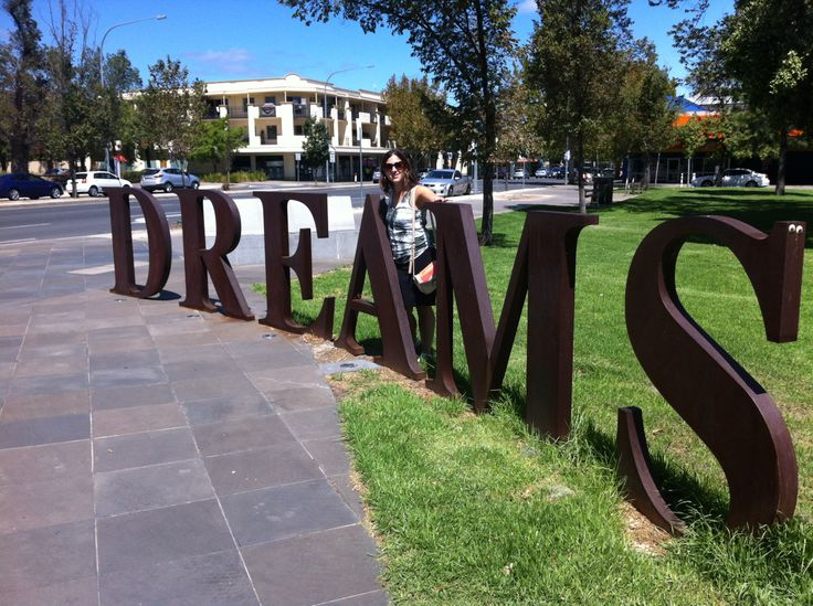 Adelaide, South Australia. A lovely park in Adelaide one of many lovely spots in Adelaide.  Me behind the word dream!