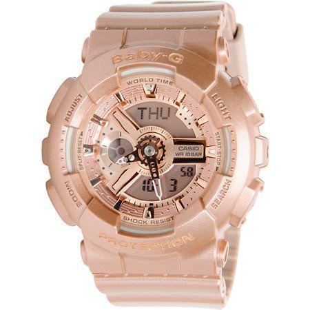 1c4778ed3e417 G-Shock BA110-4A Rose Gold Baby-G Digital Watch