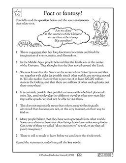 004 3rd grade Reading, Writing Worksheets Reading