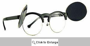 Flippin' Clubmaster Sunglasses - 125 Black