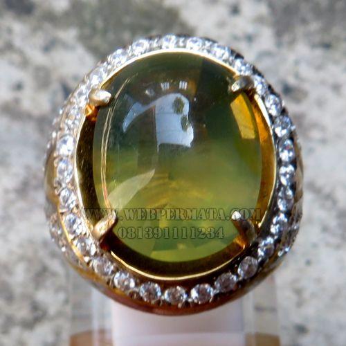 Cincin Fire Opal Hijau