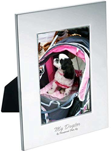 "Pampered Pets ""My Dogter"" Radiance Vertical Laser Engraved Photo Frame, Holds 3.5 by 5-Inch Photo, Silver Plated -- You can find out more details at the link of the image."