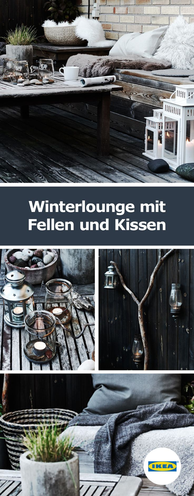 Außen-Lounge: Entspannung für kühle Tage