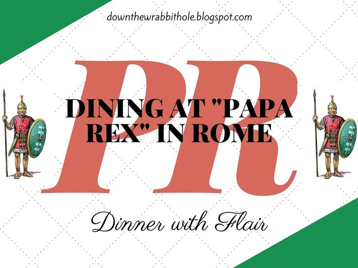 "Video footage of what it is like to dine at Papa Rex in Rome with live opera and gladiator fighting. Find out more at ""Down the Wrabbit Hole - The Travel Bucket List"". Click the image for the full video."