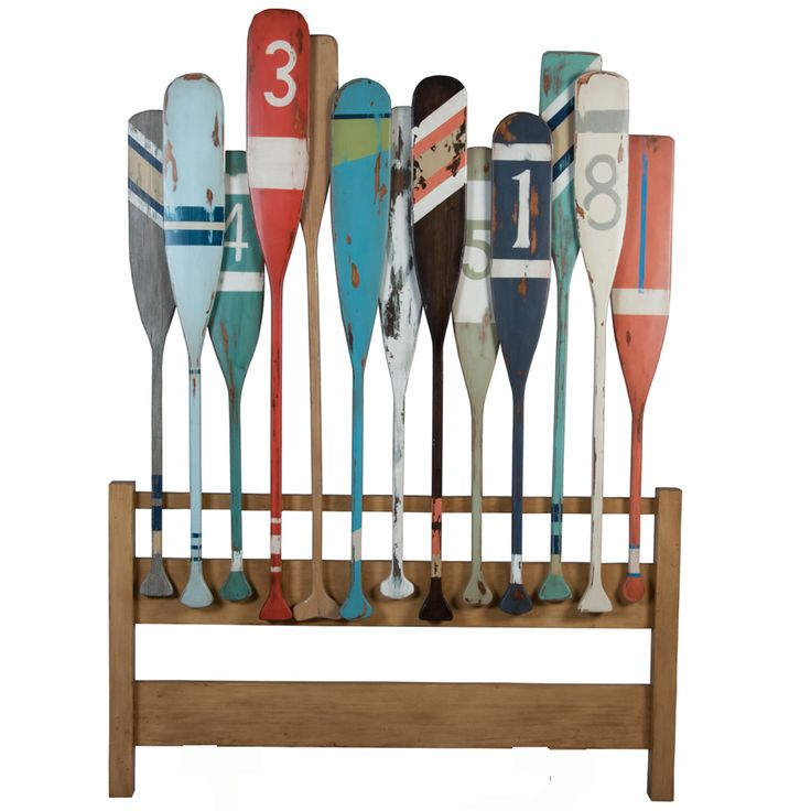 Fun and funky, this fantastic boat oar headboard is just right for a teen's room Marina Oars Headboard - Belle Escape