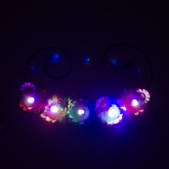 Customizable Daisy LED Flower Crown LED van LUVKittyKatrina op Etsy