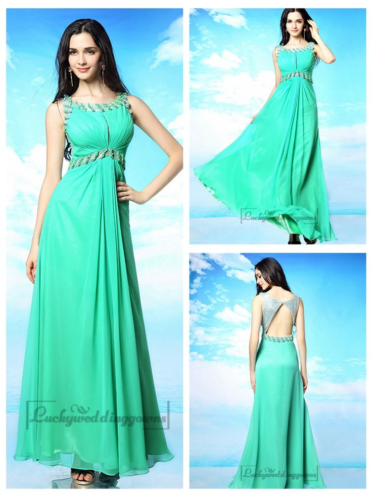 Blue Green Beaded Bateau Neckline Prom Dresses with Keyhole Back http://www.ckdress.com/blue-green-beaded-bateau-neckline-prom-dresses-with-keyhole-back-p-2040.html  #wedding #dresses #dress #lightindream #lightindreaming #wed #clothing #gown #weddingdresses #dressesonline #dressonline #bride