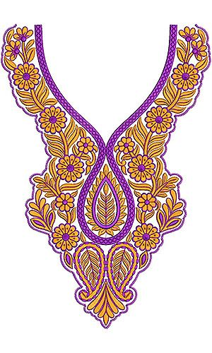 8444 Neck Embroidery Design