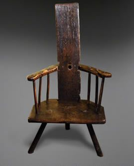 Comb Back Chair Stick Antique Comb Back Welsh Spindle