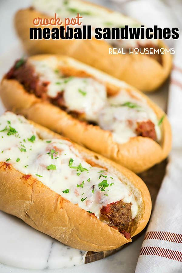 Crock Pot Meatball Sandwiches are classic tailgating food! They're an easy dinner recipe that tastes amazing! If you can make a hamburger you can make Crock Pot Meatball Sandwiches!