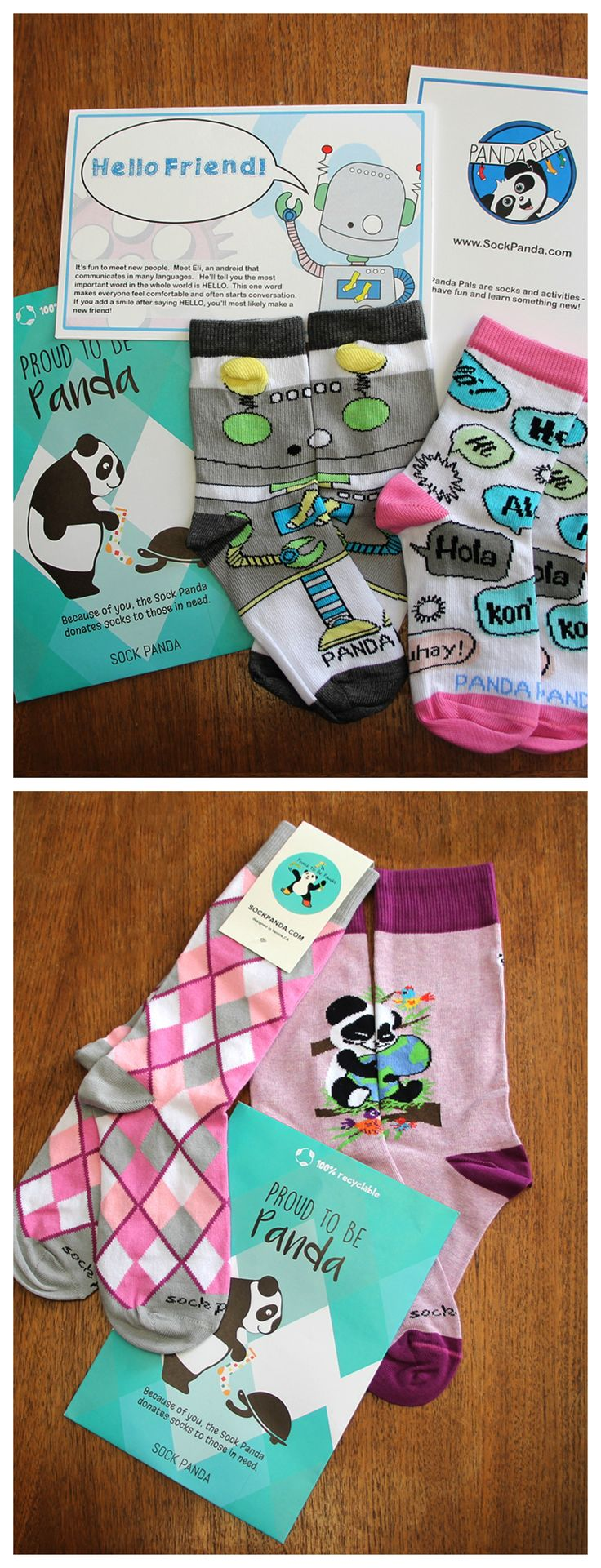 For every subscription and renewal, a pair of socks will be donated to those in need. Sock Panda. Fun Delivered. #sock #subscription #give #back