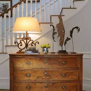 Cape Cod Style Antique Dresser In Entryway