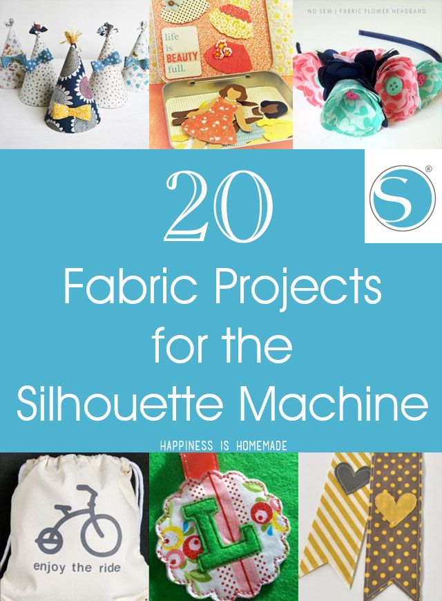 There are so many wonderful projects that you can create with a Silhouette cutting machine including these awesome fabric crafts!