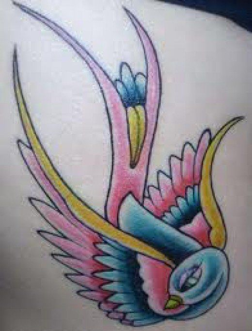 Swallow tattoos can be designed in many variations and styles. Learn the meanings behind the swallow tattoo and view dozens of swallow tattoo designs.