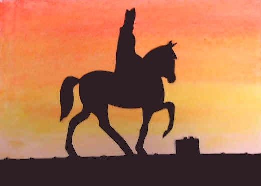 Sint met paard op het dak