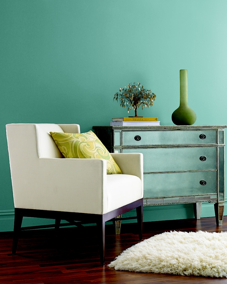 Colors For Walls: Great Accent Wall Color Benjamin Moore AF-505 Blue Echo