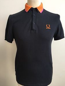 RAF SIMONS FRED PERRY Polo Shirt GREY Size 38 SMALL  | eBay