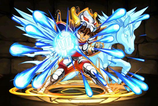 Cavaleiro de bronze - Seiya de Pegasus - Attack - versão chibi