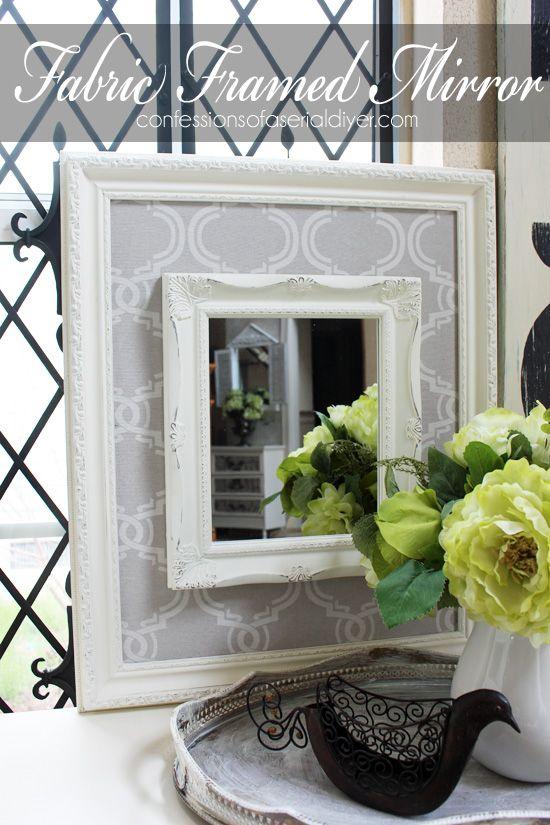 Thriftyfabric Framed Mirror Frame Mirrors Fabric Frame