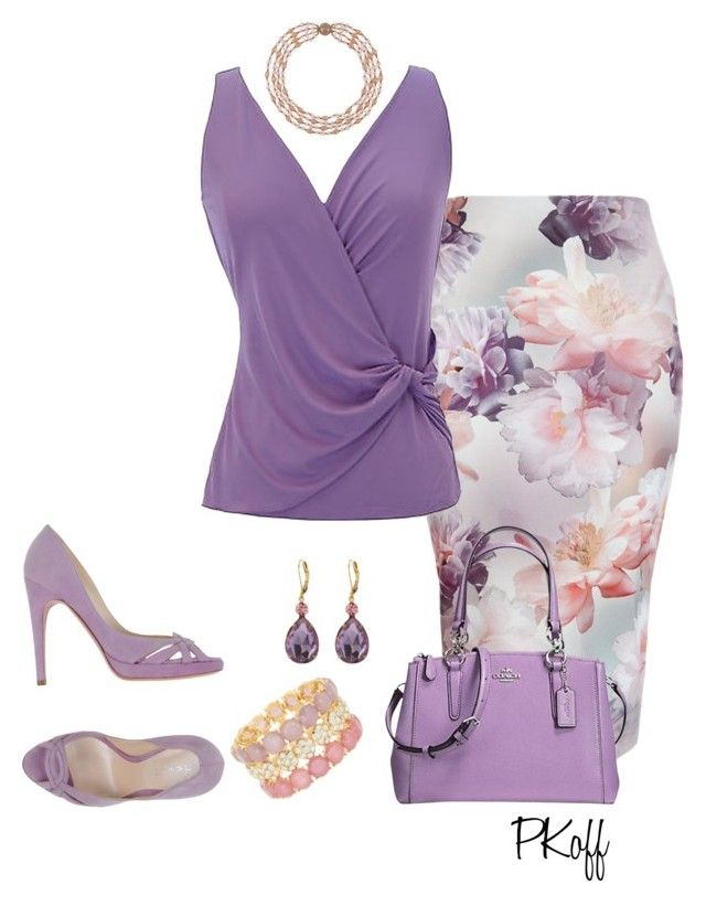 Lilac Outfit by pkoff on Polyvore featuring polyvore fashion style Armani Collezioni New Look Casadei Coach Natasha Accessories Zara Taylor clothing
