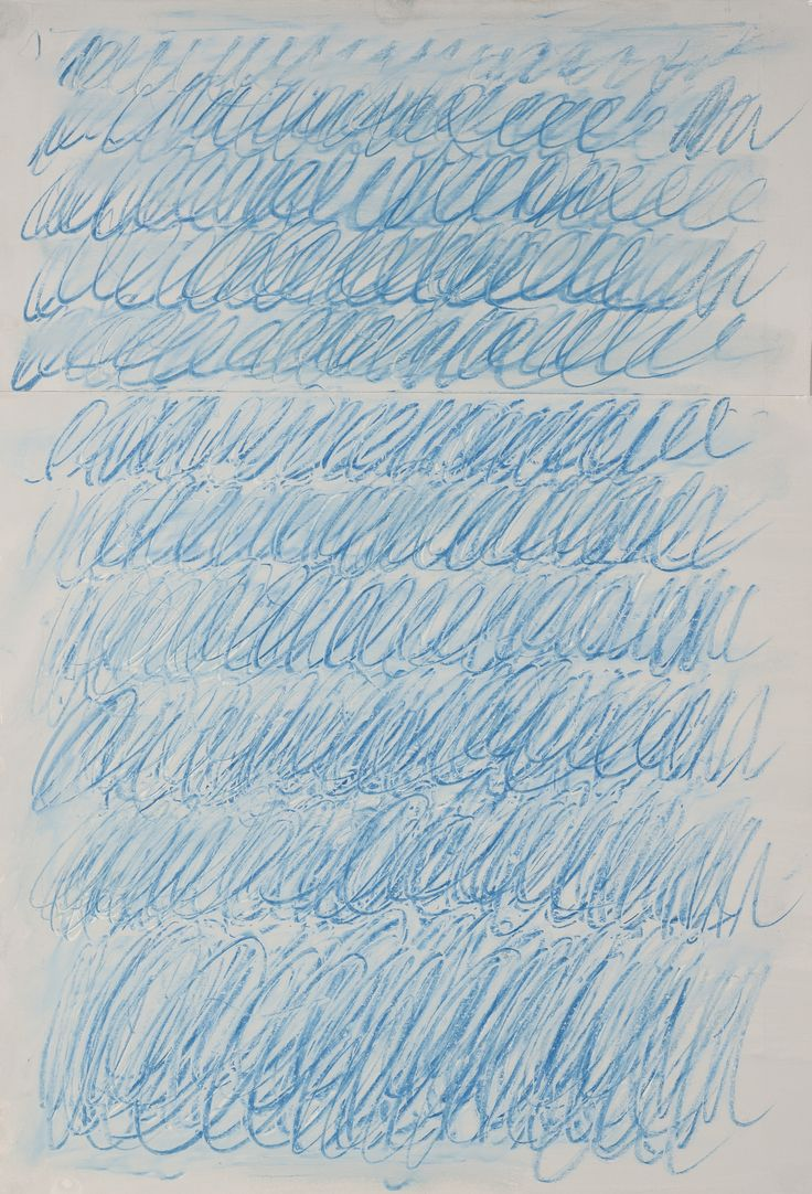 Cy Twombly: signed and dated June 71 on the reverse housepaint and wax crayon on card 52.1 by 36.5 cm.
