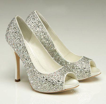 Benjamin Adams 'Charlize' Ivory Wedding Shoe