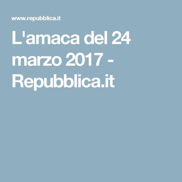 L'amaca del 24 marzo 2017 - Repubblica.it