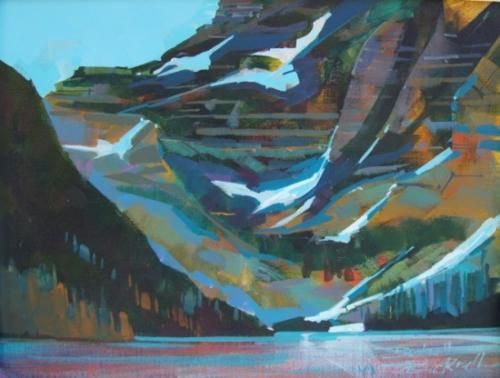 Brian Buckrell - Cameron Lake Sketch - The Avens Gallery