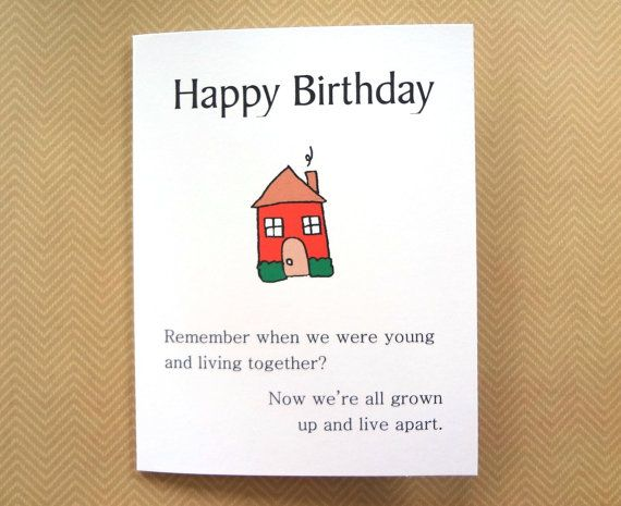 Birthday Cards Brother From Sister ~ Brother sister funny birthday card sibling
