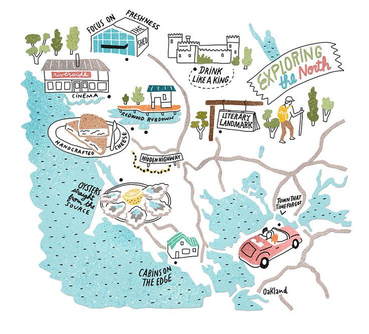 Map for San Francisco Bay News - Antoine Corbineau • Illustration & Design