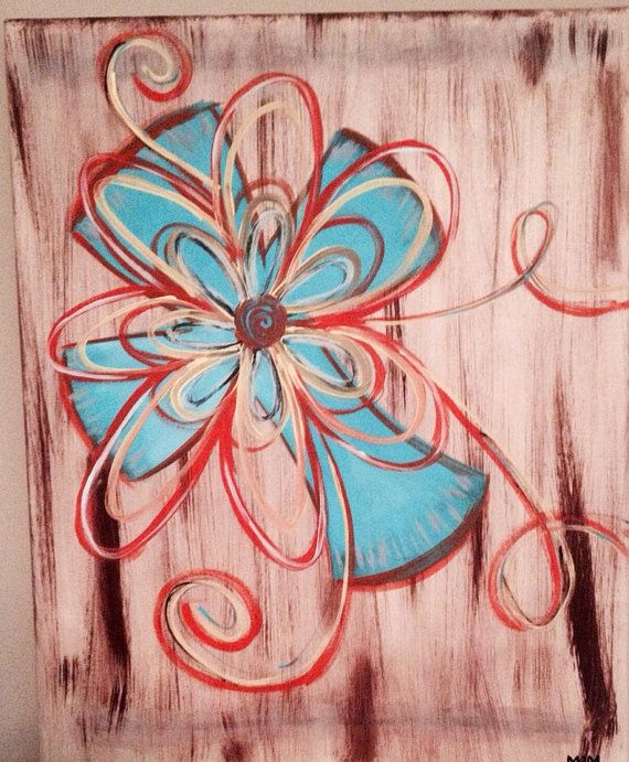 Hand Painted Cross On 16x20 Canvas by DesignsByMaryBeth on Etsy, $25.00