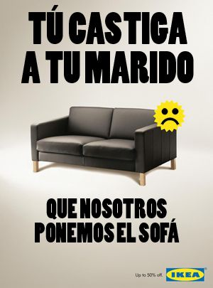 Ikea launches a new sofa to punish bad husbands