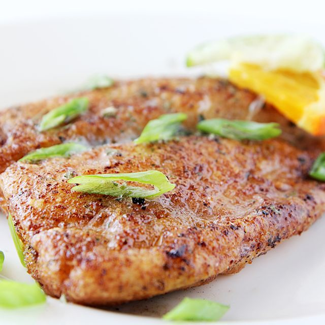 tilapia, salt and pepper, all-purpose flour, olive oil, and unsalted butter