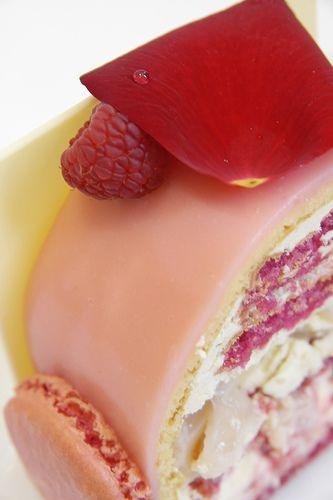 A slice of Ispahan Buche de Noel