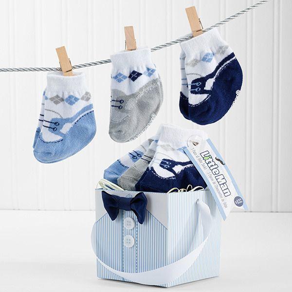 """Little Man"" Baby Socks (3 pairs)"