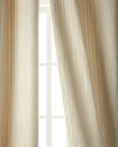 """Austin Horn Classics Two 96""""L Abstract Stripe Curtains"""
