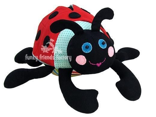 Ladybug Lily ... by Funky Friends F   Sewing Pattern - Looking for your next project? You're going to love Ladybug Lily Stuffed Toy Sewing Pattern by designer Funky Friends F. - via @Craftsy