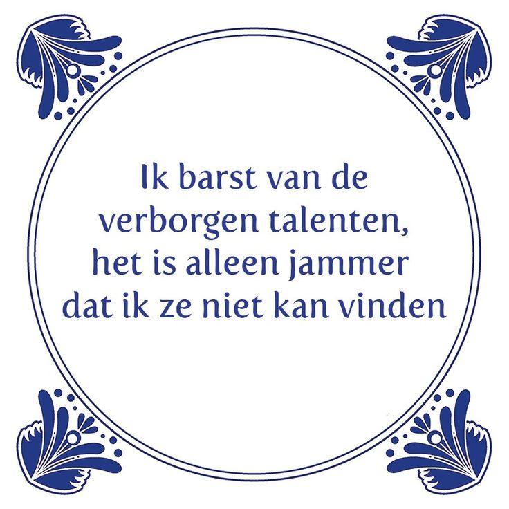 Tegeltjeswijsheid.nl - een uniek presentje - Ik barst van de verborgen talenten