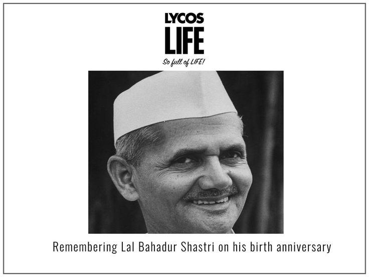 Remembering Lal Bahadur Shastri on his birth anniversary. #LalBahadurShashtri #BirthAnniversary #india #lycos #ybrant #lycosevent #lycoslife