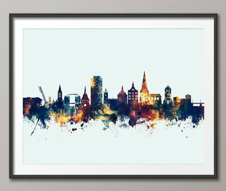 Rostock Skyline, Rostock Germany Cityscape Art Print (3203) by artPause on Etsy