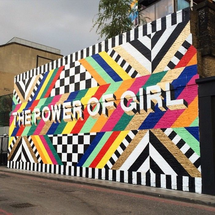 """This is the wall I painted in Shoreditch last year, just round the corner from the one I'm working on now. <a href="""" https://instagram.com/Lakwena/""""> @Lakwena </a><a href = https://instagram.com/explore/tags/ditakeover/ >#DITakeover </a>"""