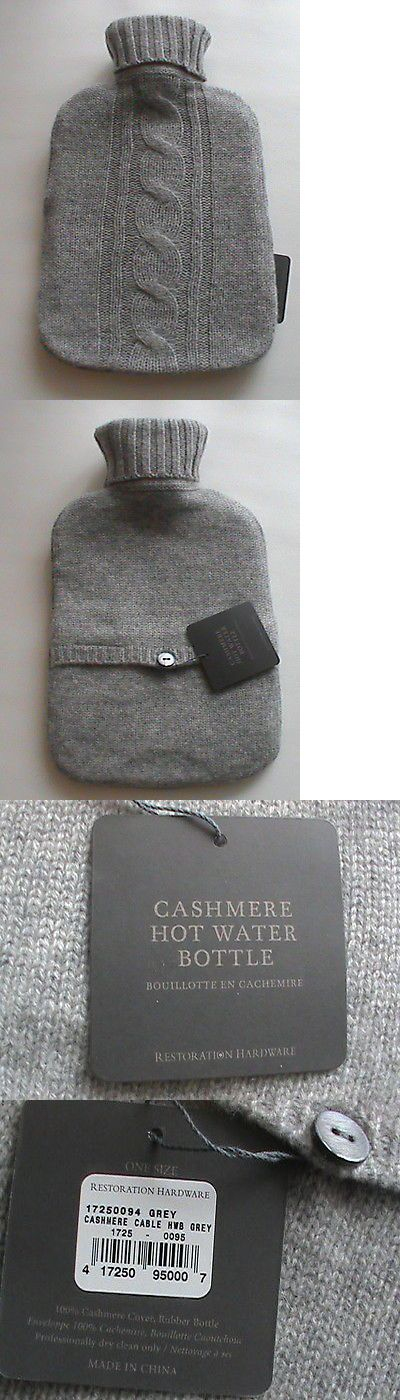 Hot Water Bottles and Covers: Restoration Hardware Nwt Heather Gray Hot Water Bottle Cable Knit Cashmere Cover -> BUY IT NOW ONLY: $60.0 on eBay!