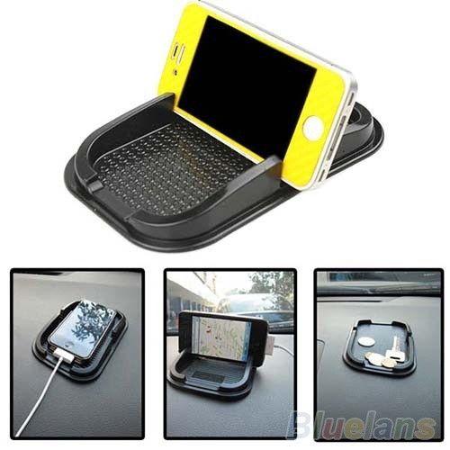 Black Car Dashboard Sticky Pad Mat Anti Non Slip Gadget Mobile Phone GPS Holder , phone mount = 1652442628
