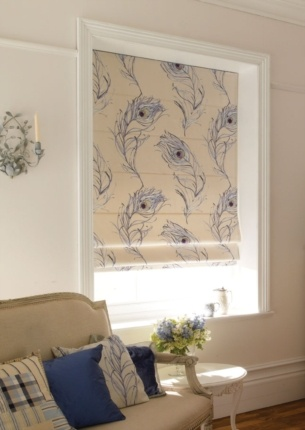 Chatsworth Peacock Roman Blind - Made To Measure From £77.00 - www.orderblinds.co.uk - Hundreds of stunning designs