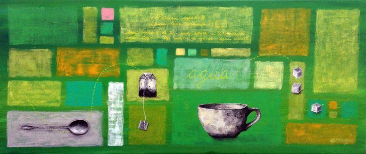 """""""Pócima infalible"""" ANDREA MUGA Acrylic on canvas 70x30cm 130.000 CLP"""