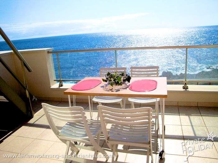 #Wohnung direkt am Meer mit Balkon, Dachterrasse und Pool im Südosten von #Teneriffa in #Poris de Abona.