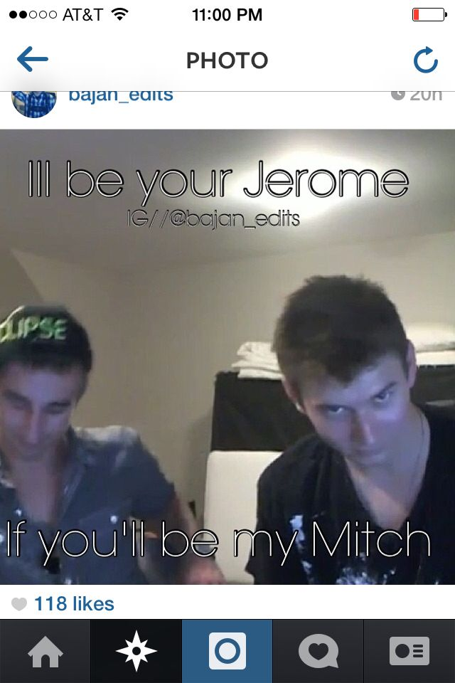 I'll be you're Mitch, if you'll be my Jerome