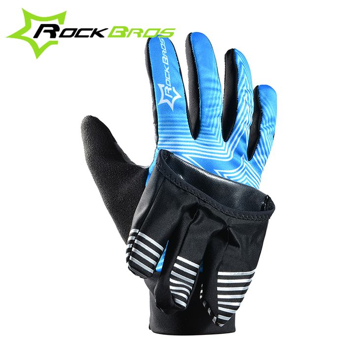 Cycling Gloves  RockBros Glove 2 Modes Bike Bicycle Winter Waterproof Touch Screen Fleece Warm Gloves Windproof Cover Professional Cycling Glove -- View the fitness item in details by clicking the VISIT button